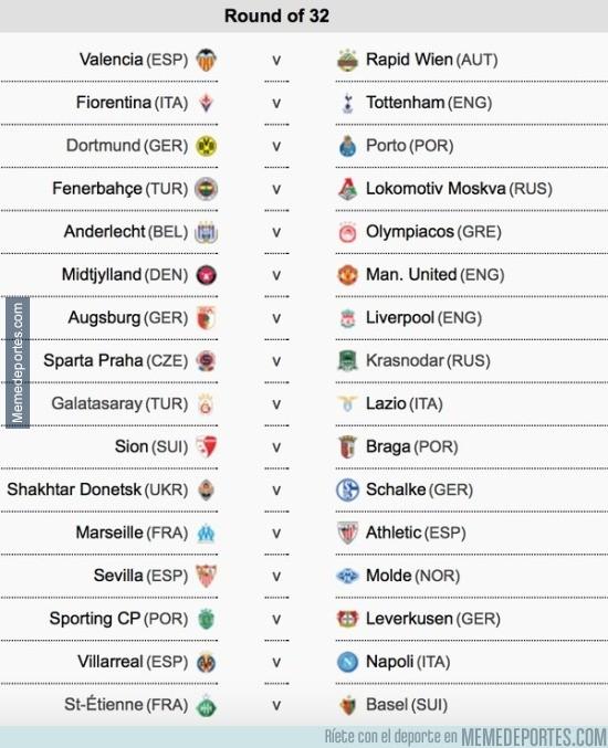 759602 - Asi han quedado los 16vos de la Europa League, ¿Con qué partidazo te quedas?
