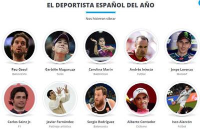 759818 - Elección de los deportistas del año 2015. ¿Cuál es tu voto en cada categoría?