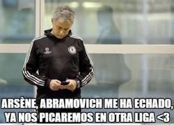 Enlace a Mourinho despedido del Chelsea, Wenger llora...