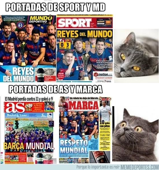 765276 - Portadas dedicadas al Barça, ¿todos los periódicos?
