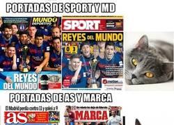 Enlace a Portadas dedicadas al Barça, ¿todos los periódicos?