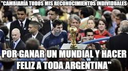 Enlace a Messi cambiaría todos sus reconocimientos individuales por un Mundial