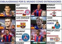 Enlace a Ex jugadores del FC Barcelona, ahora como entrenadores