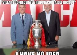 Enlace a Villar intentará hacer que Del Bosque renueve
