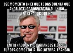 Enlace a Ancelotti, todo un crack