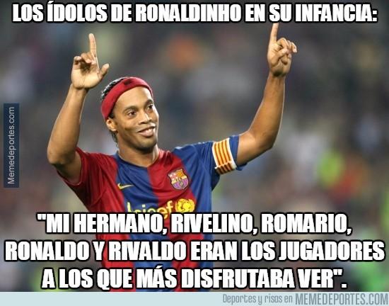 768584 - Los ídolos de Ronaldinho en su infancia