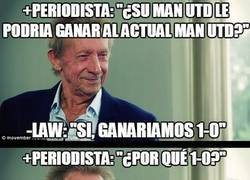 Enlace a Denis Law troleando a Van Gaal