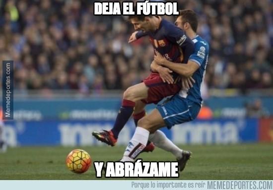 772351 - Momento de amor en el Espanyol-Barça