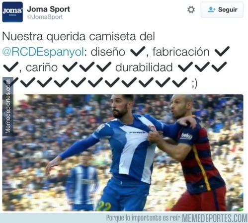 772479 - El patrocinador del Espanyol se lo toma con humor