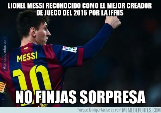 775194 - Messi, el mejor creador de juego del 2015 segun IFFHS