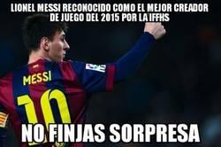 Enlace a Messi, el mejor creador de juego del 2015 segun IFFHS