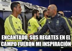 Enlace a Los jugadores le agradecen a Zidane
