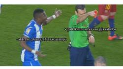 Enlace a La conversación de Diop con el árbitro
