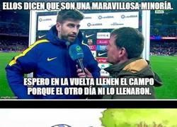 Enlace a Piqué a lo suyo contra el Espanyol