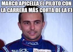 Enlace a Marco Apicella, el piloto con la carrera más corta de la F1