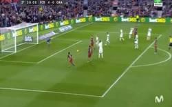 Enlace a GIF: Golazo del Barcelona que mete Neymar el cuarto. ¡Vaya show la MSN!