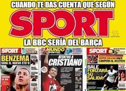 Enlace a Según Sport, la BBC sería del Madrid