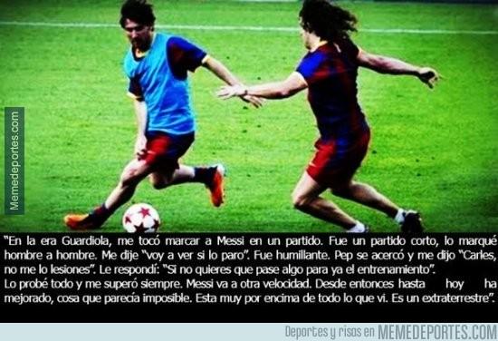 779053 - El día que Puyol reconoció que Messi era un extraterrestre