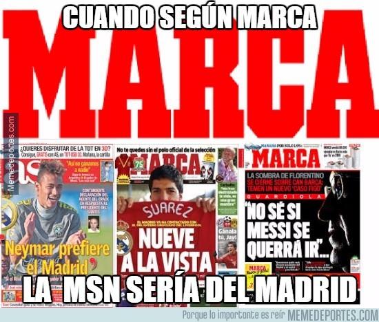779122 - Cuando según marca, la MSN sería del Real Madrid