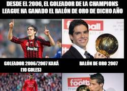 Enlace a ¡DE NUEVO! El goleador de la champions pasada será ganador del balón de oro