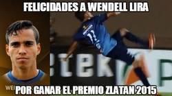 Enlace a Wendell Lira se lleva el premio Zlatan 2015