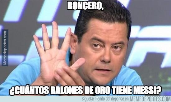 780206 - Roncero, ¿cuántos balones de oro tiene Messi?