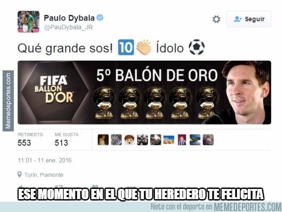 780353 - Dybala se rinde ante Messi
