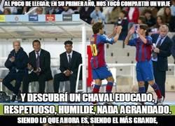 Enlace a Emotiva carta de Xavi, otro enamorado de Messi. Vale la pena leerla