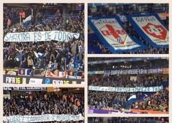 Enlace a Lamentables las pancartas de aficionados del Espanyol en su estadio