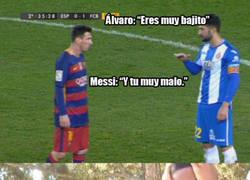 Enlace a La discusión de Álvaro del Espanyol con Messi