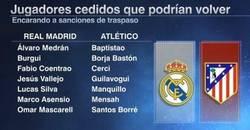Enlace a Estos jugadores podrían regresar al Atlético y Madrid después de la sanción de la FIFA
