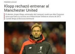 Enlace a Mientras tanto los aficionados del Manchester United...