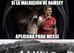 Enlace a Messi, nunca seas como Ramsey