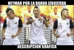 Enlace a Neymar hace lo que quiere por su banda