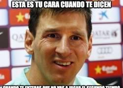 Enlace a Messi ni ha saltado al campo