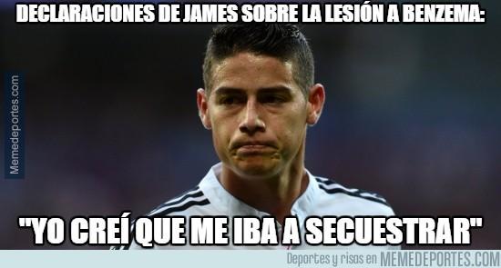 785547 - James tenía un motivo para lesionar a Benzema