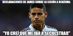 Enlace a James tenía un motivo para lesionar a Benzema