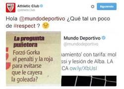 Enlace a Zasca del Athletic a Mundo Deportivo. Muy grandes
