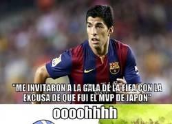 Enlace a Luis Suárez manda puyita a la FIFA