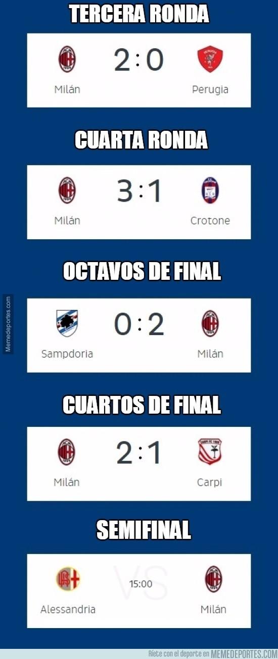 786285 - AC Milan y sus dificilísimos partidos en la Copa de Italia