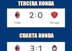 Enlace a AC Milan y sus dificilísimos partidos en la Copa de Italia