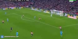 Enlace a GIF: Gol de Munir con un pase estratosférico de Rakitic