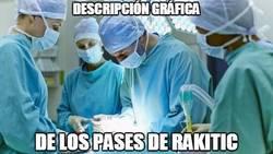 Enlace a Asistencias de Rakitic y una cirugía, parecido más que razonable