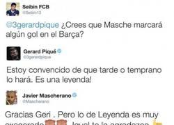 Enlace a La divertida conversación entre Mascherano y Piqué en twitter