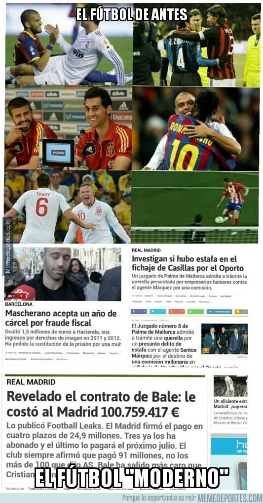 787421 - Diferencias entre el fútbol de antes y el actual. El