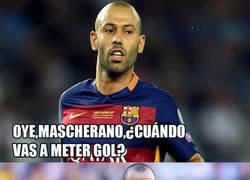 Enlace a Mascherano y su sequía goleadora