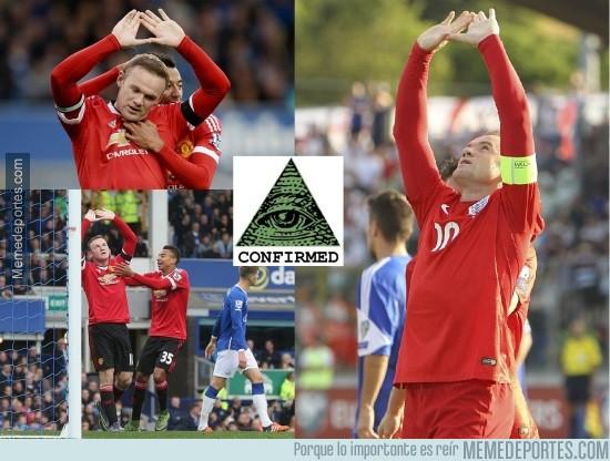 787594 - Sabes que Rooney está regresando a su nivel cuando se vuelve Iluminati