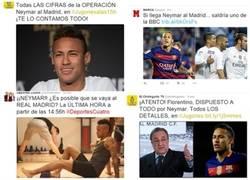 Enlace a Campaña descarada para fichar a Neymar