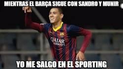 Enlace a Sanabria petándolo en el Sporting