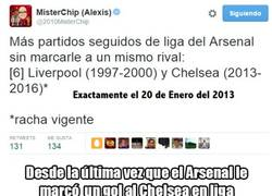 Enlace a Desde la última vez que el Arsenal le marcó un gol al Chelsea en liga